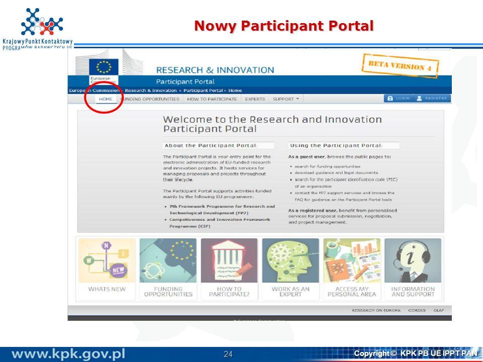 Nowy Participant Portal