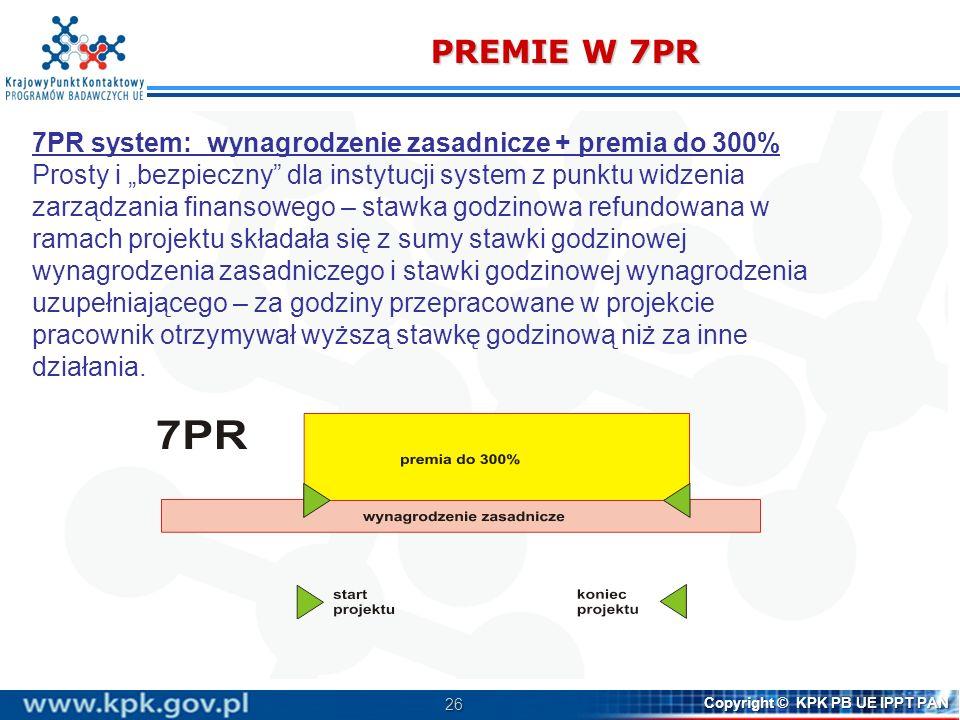 PREMIE W 7PR 7PR system: wynagrodzenie zasadnicze + premia do 300%