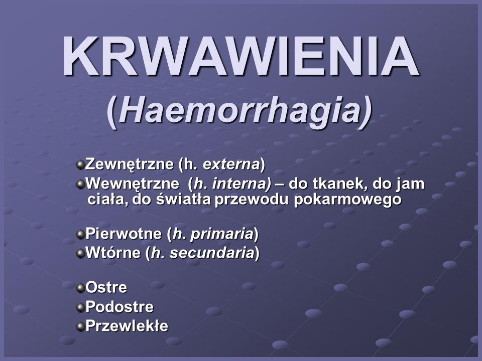 KRWAWIENIA (Haemorrhagia)