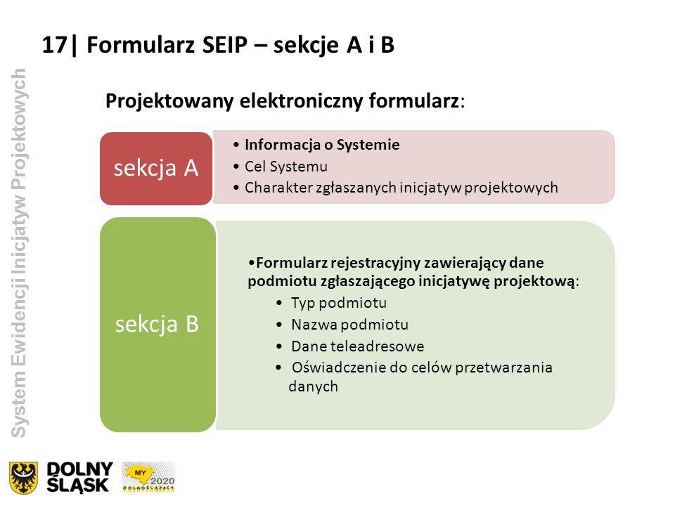 17| Formularz SEIP – sekcje A i B