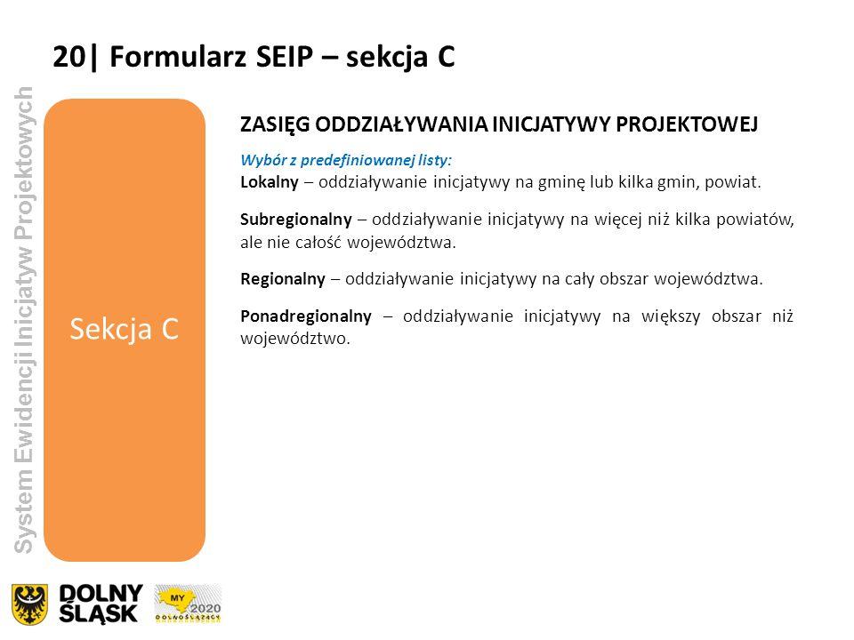 20| Formularz SEIP – sekcja C