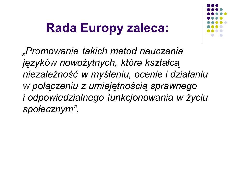 Rada Europy zaleca: