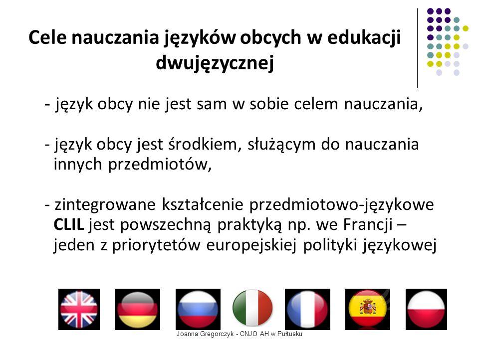 Cele nauczania języków obcych w edukacji dwujęzycznej