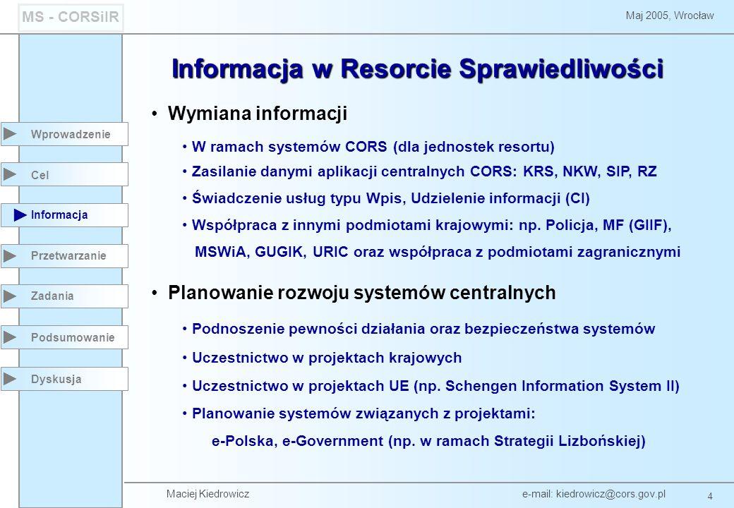 Informacja w Resorcie Sprawiedliwości