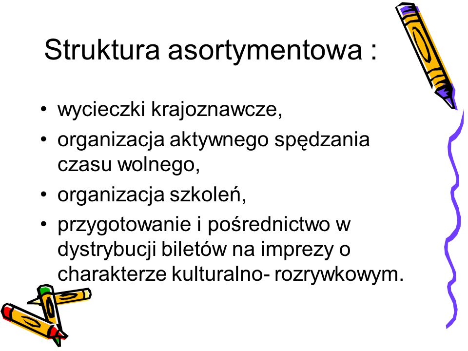 Struktura asortymentowa :