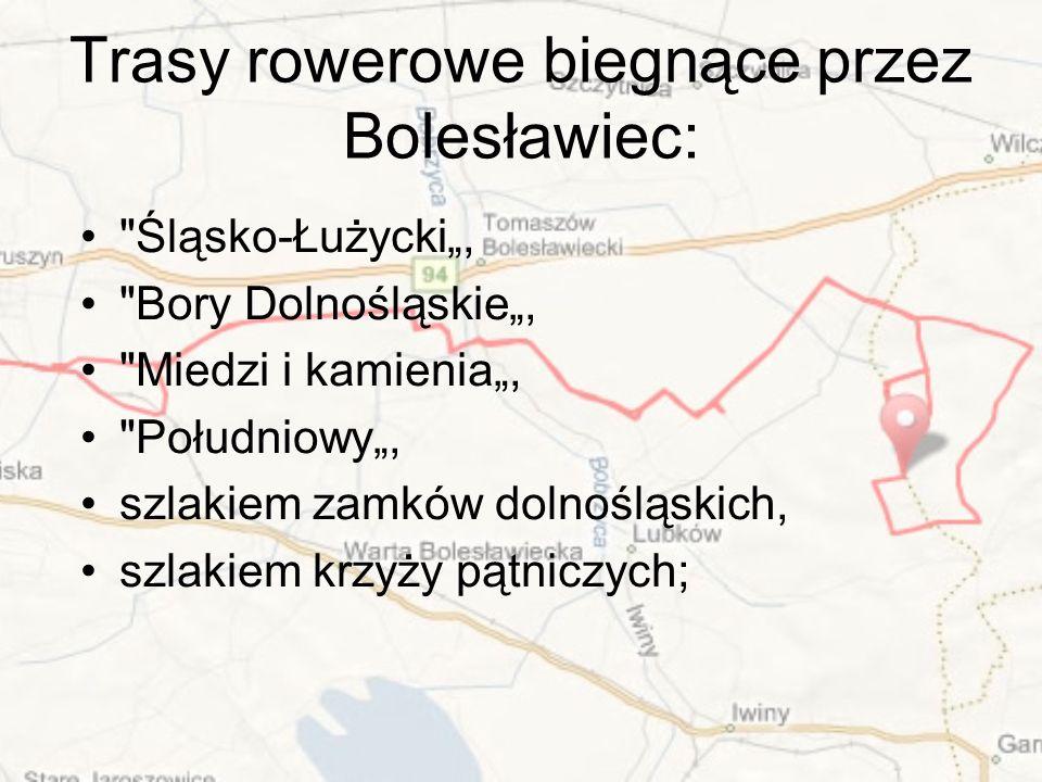 Trasy rowerowe biegnące przez Bolesławiec: