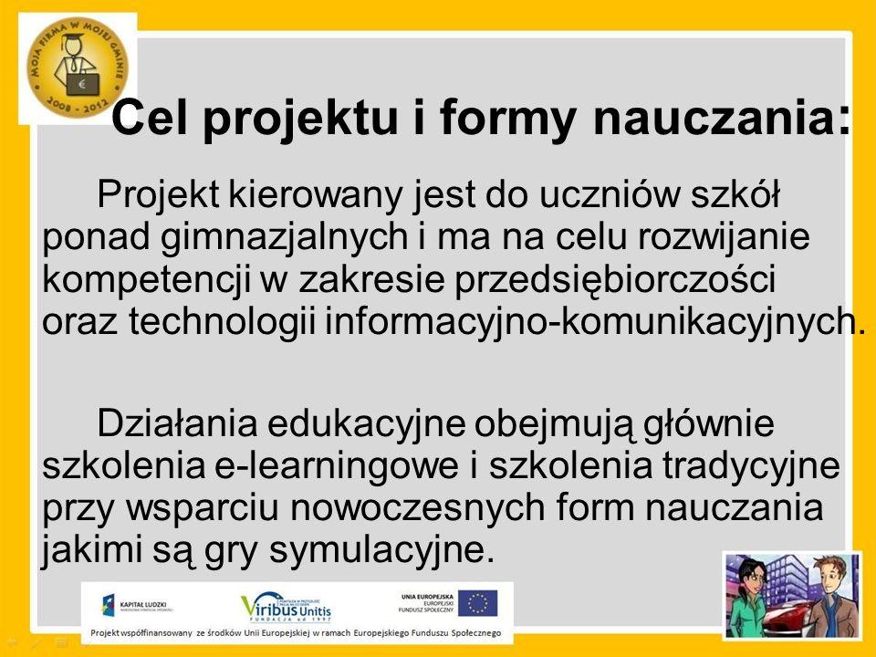 Cel projektu i formy nauczania: