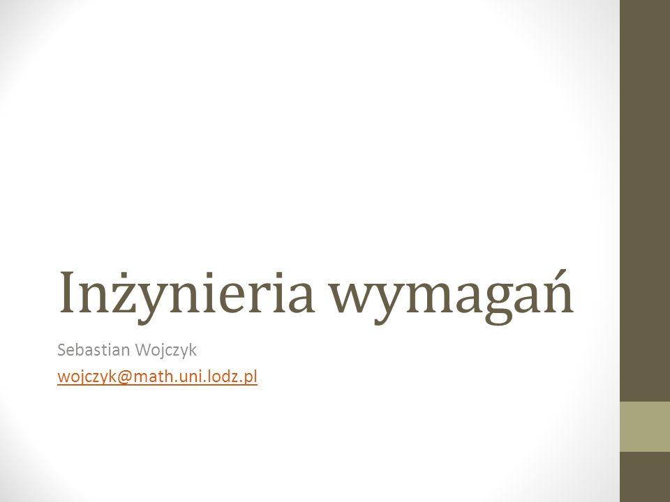 Sebastian Wojczyk wojczyk@math.uni.lodz.pl