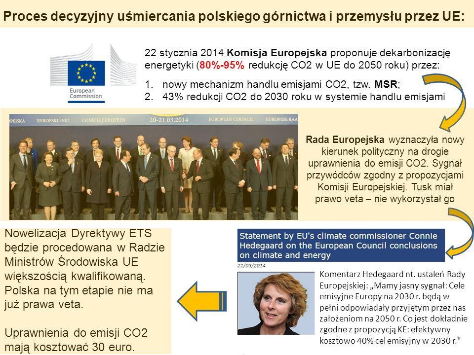 Proces decyzyjny uśmiercania polskiego górnictwa i przemysłu przez UE: