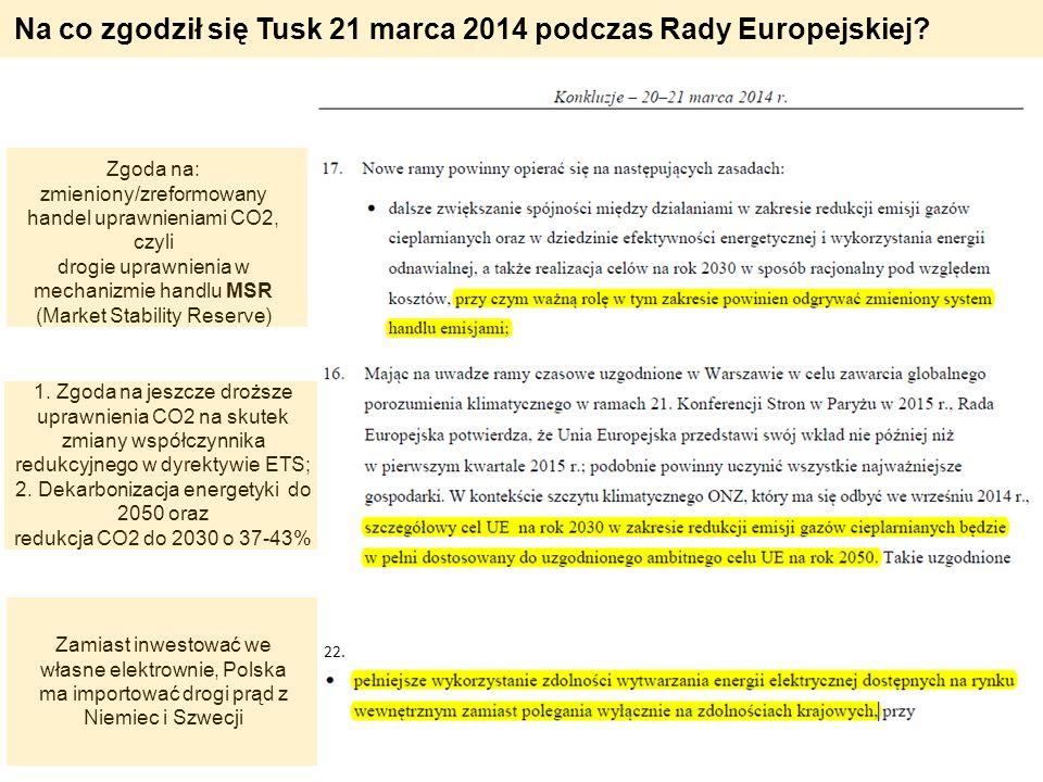 Na co zgodził się Tusk 21 marca 2014 podczas Rady Europejskiej
