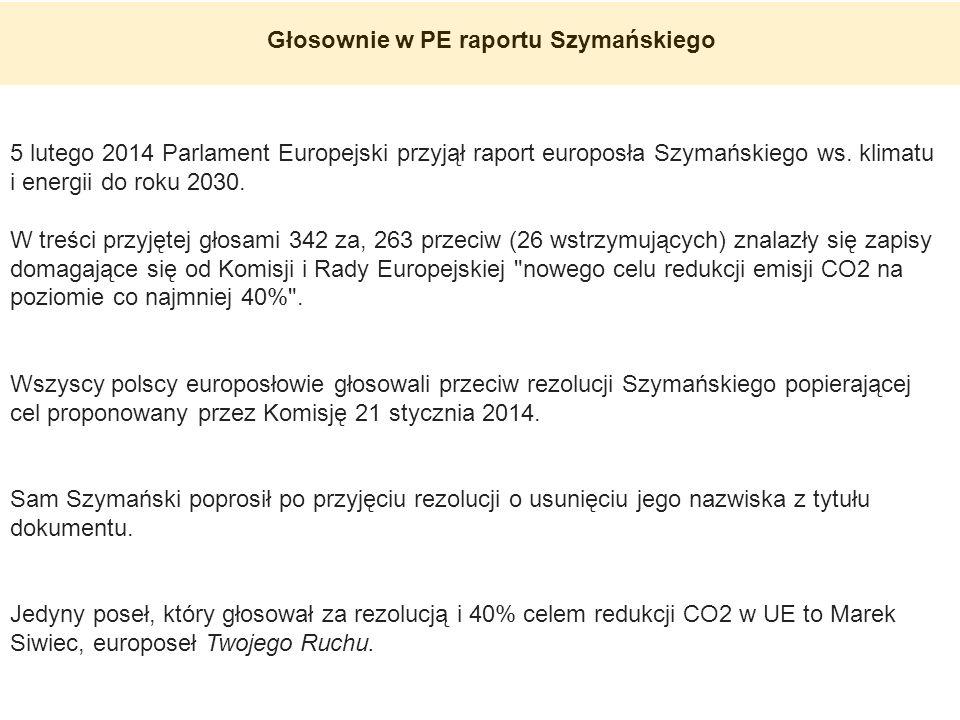 Głosownie w PE raportu Szymańskiego