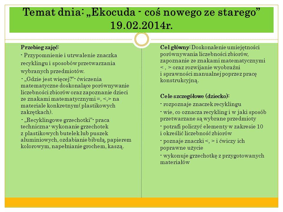 "Temat dnia: ""Ekocuda - coś nowego ze starego 19.02.2014r."