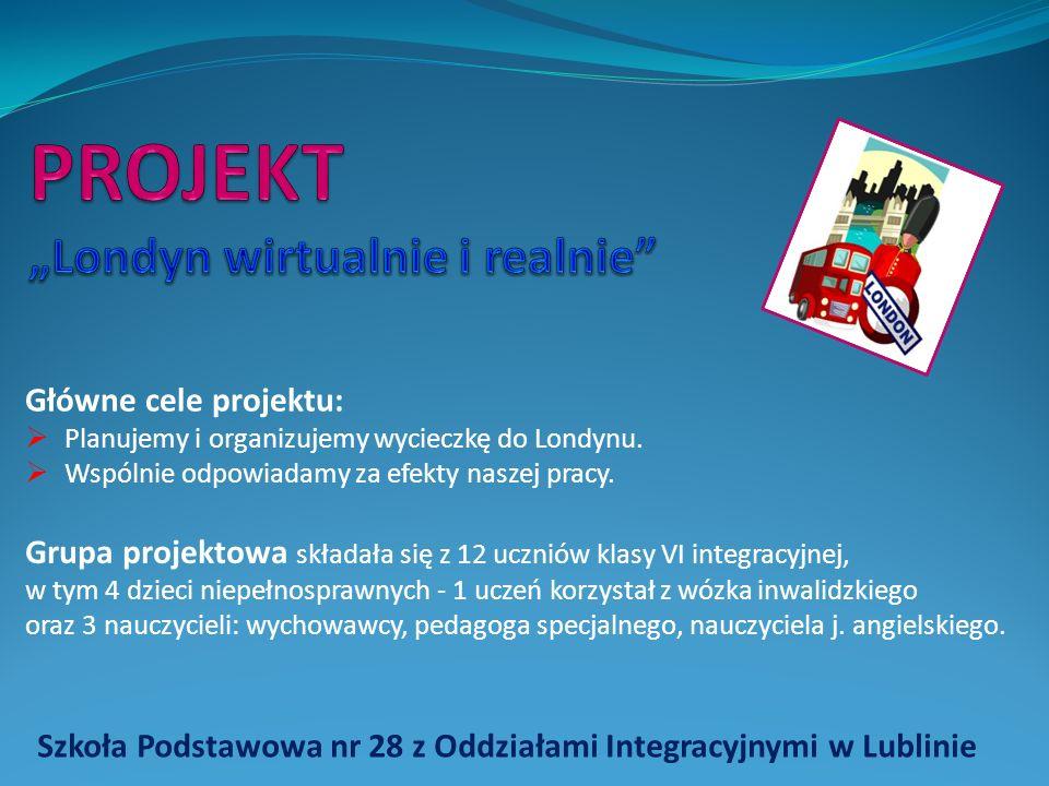 """PROJEKT """"Londyn wirtualnie i realnie"""