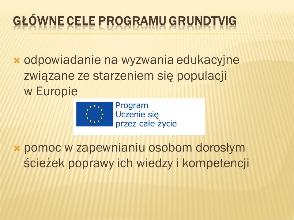 Główne cele programu Grundtvig