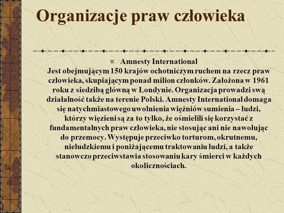 Organizacje praw człowieka