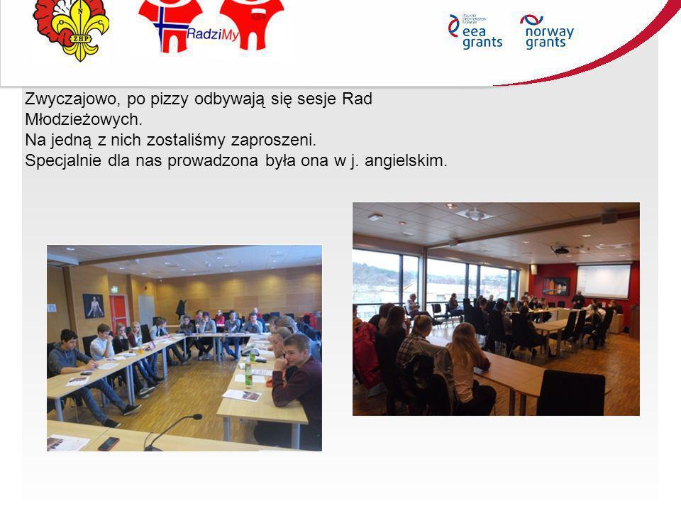 Zwyczajowo, po pizzy odbywają się sesje Rad Młodzieżowych.