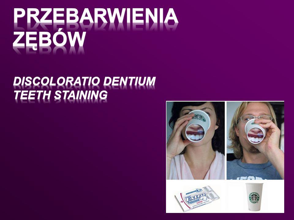 Przebarwienia zębów discoloratio dentium teeth staining