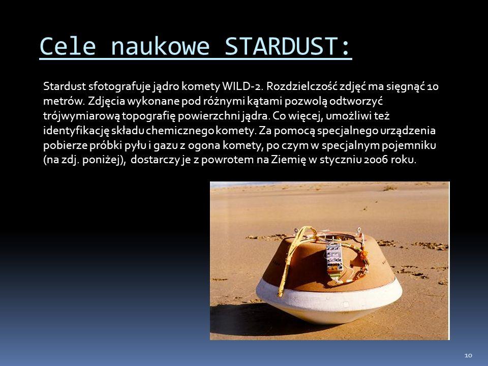 Cele naukowe STARDUST: