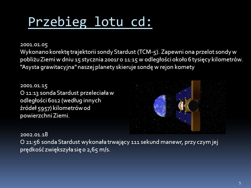 Przebieg lotu cd: 2001.01.05.