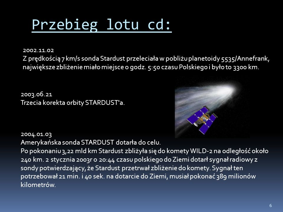 Przebieg lotu cd: 2002.11.02.