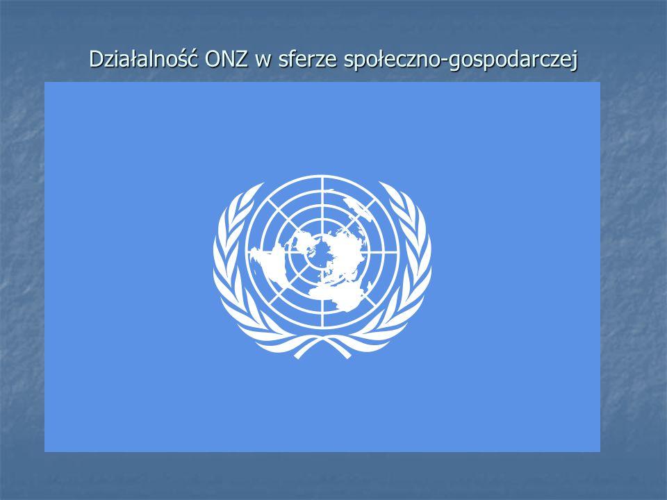 Działalność ONZ w sferze społeczno-gospodarczej