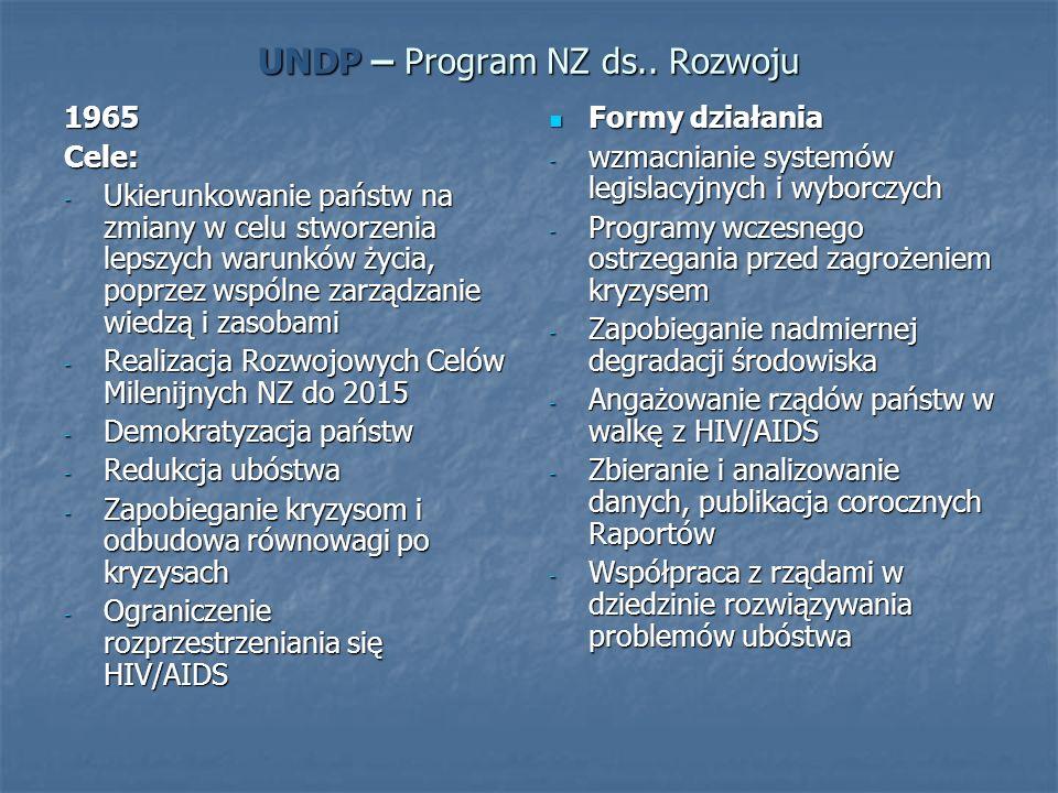 UNDP – Program NZ ds.. Rozwoju