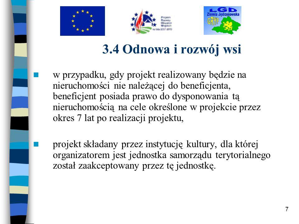3.4 Odnowa i rozwój wsi