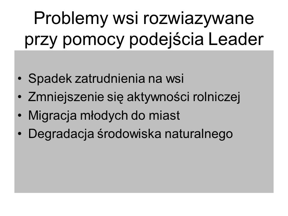 Problemy wsi rozwiazywane przy pomocy podejścia Leader