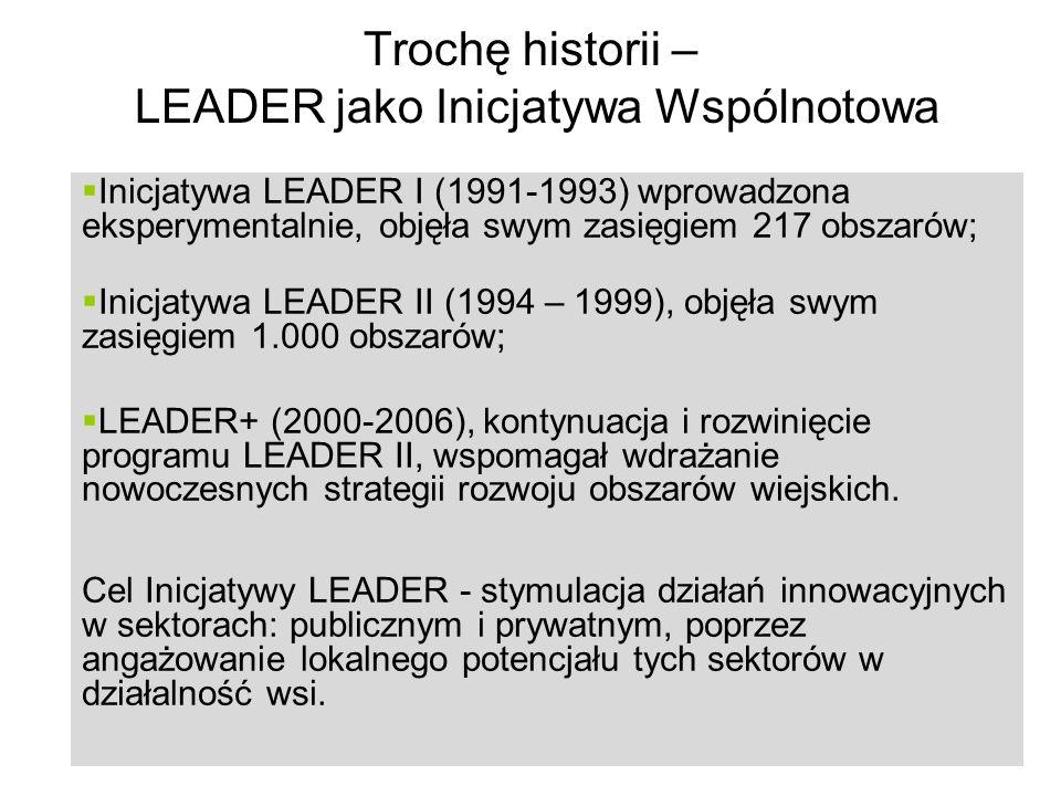 Trochę historii – LEADER jako Inicjatywa Wspólnotowa