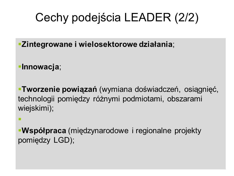 Cechy podejścia LEADER (2/2)
