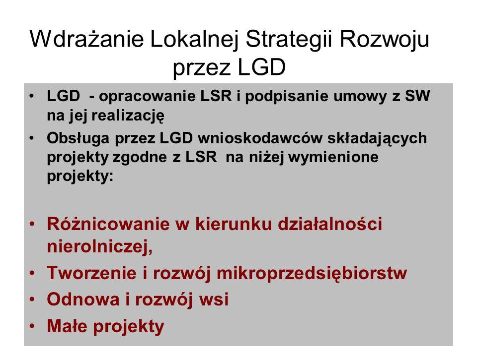 Wdrażanie Lokalnej Strategii Rozwoju przez LGD