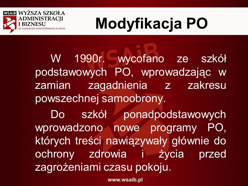Modyfikacja PO