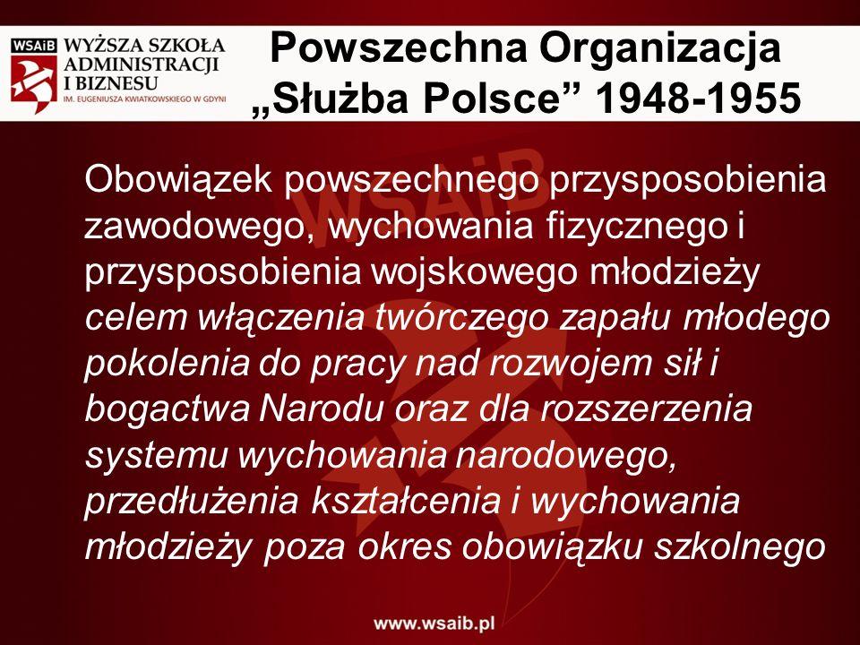 """Powszechna Organizacja """"Służba Polsce 1948-1955"""
