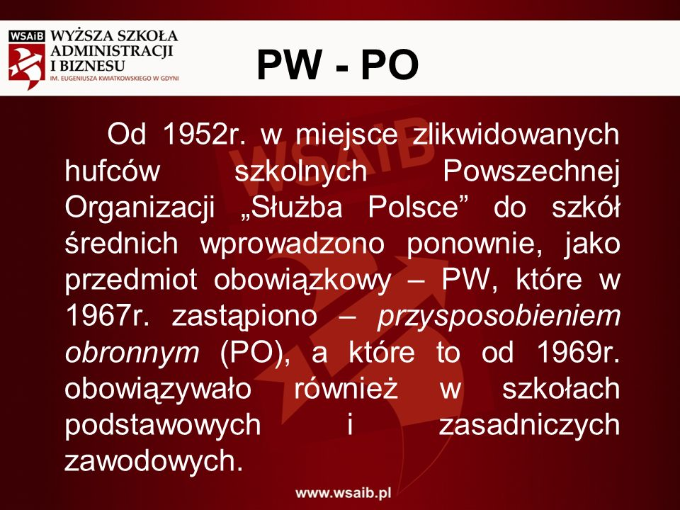 PW - PO
