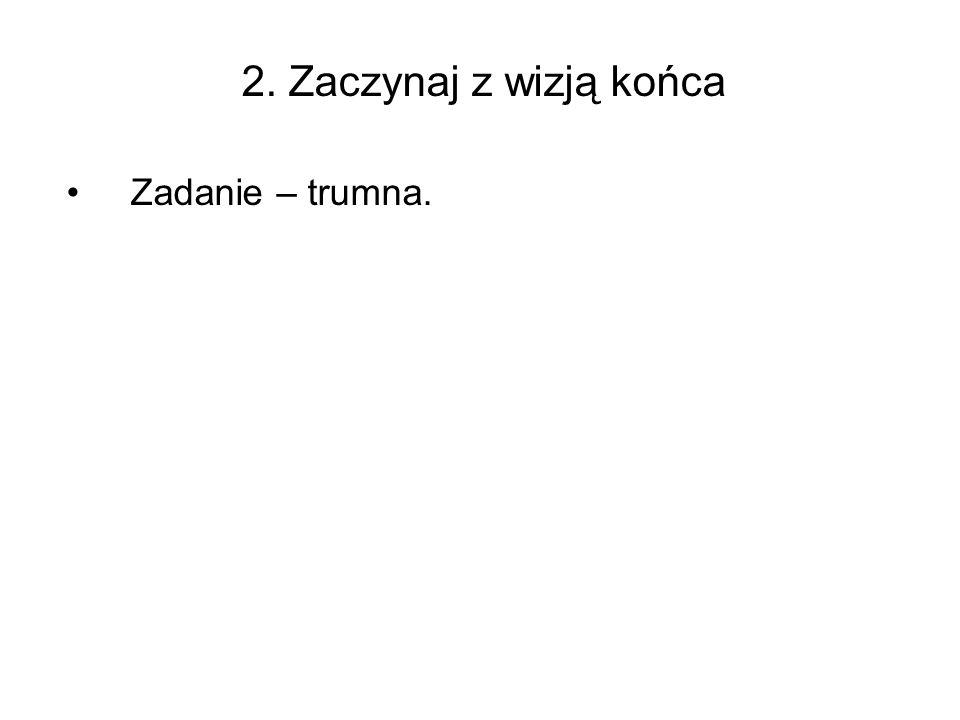 2. Zaczynaj z wizją końca Zadanie – trumna.