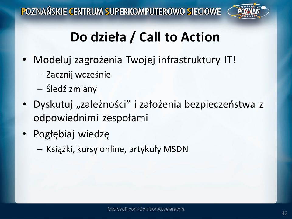 Do dzieła / Call to Action