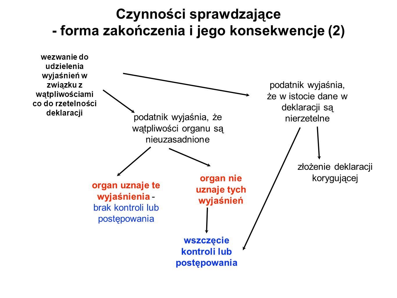 Czynności sprawdzające - forma zakończenia i jego konsekwencje (2)