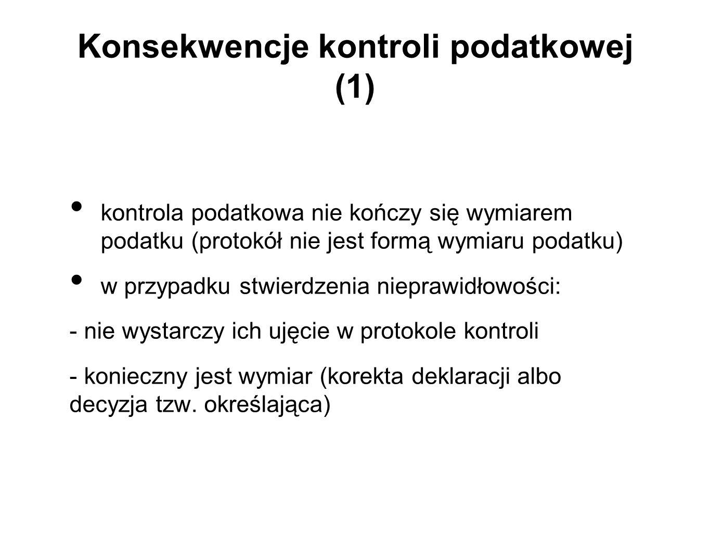 Konsekwencje kontroli podatkowej (1)