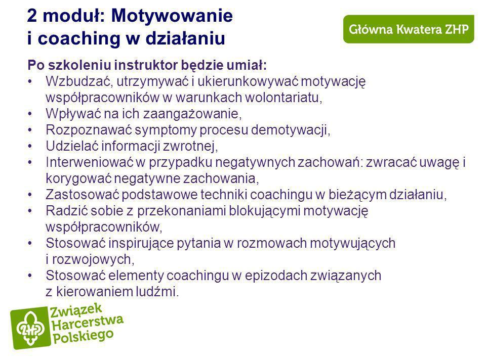 2 moduł: Motywowanie i coaching w działaniu