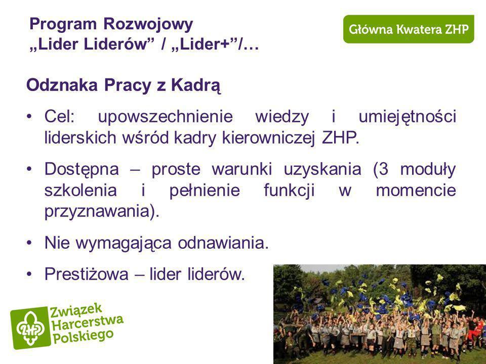 "Program Rozwojowy ""Lider Liderów / ""Lider+ /…"