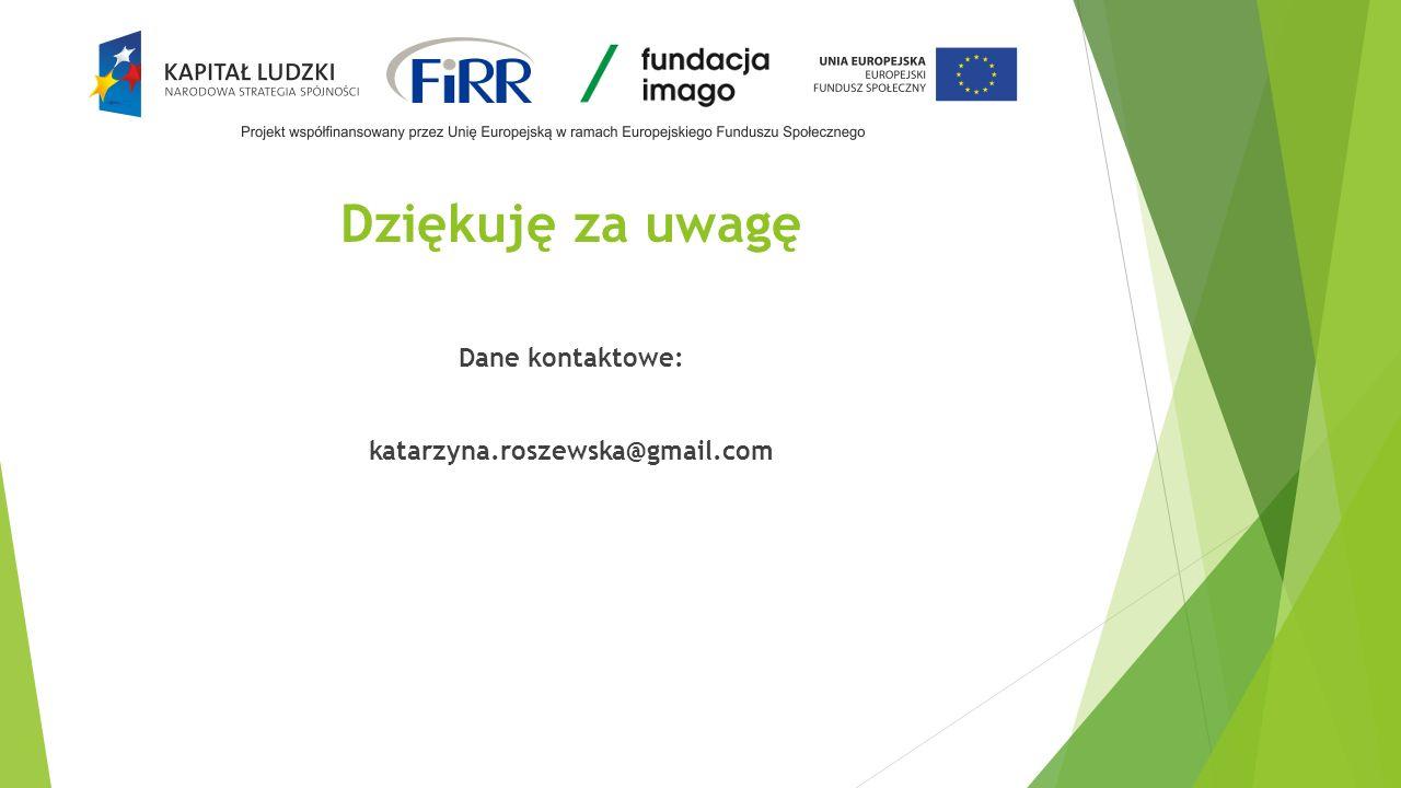 Dane kontaktowe: katarzyna.roszewska@gmail.com
