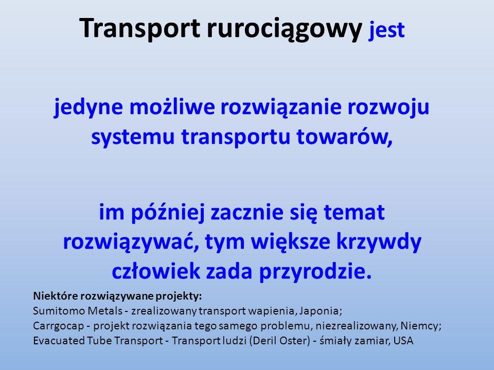 Transport rurociągowy jest