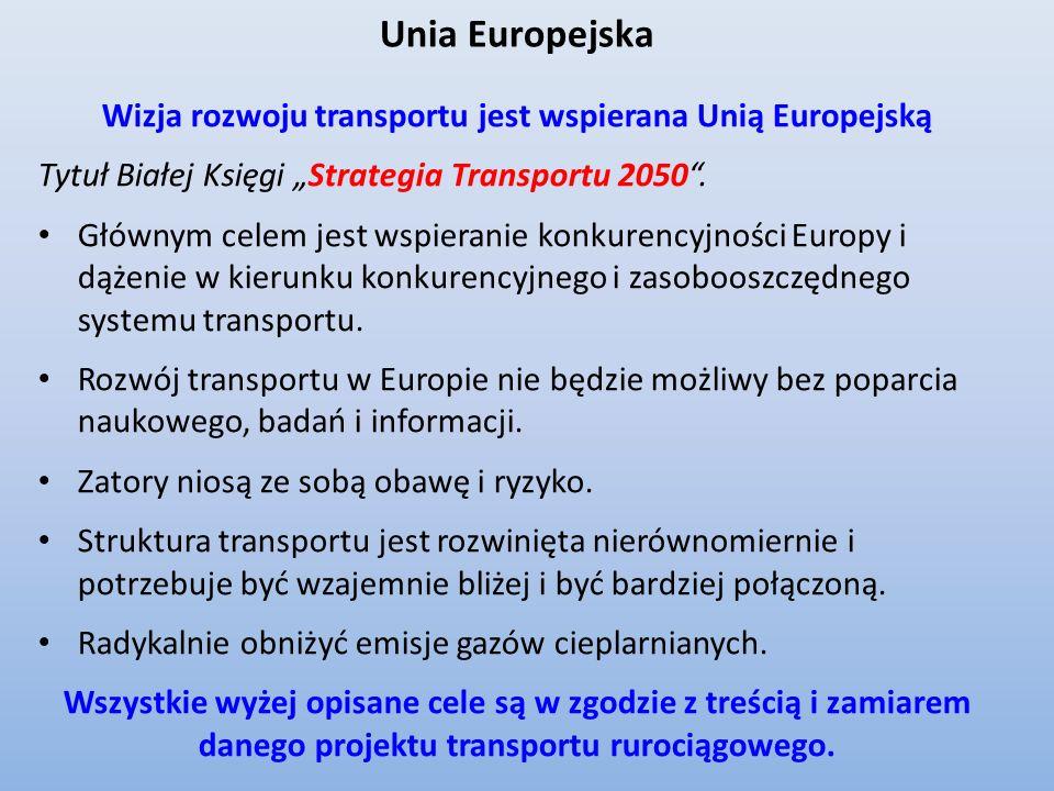 Wizja rozwoju transportu jest wspierana Unią Europejską