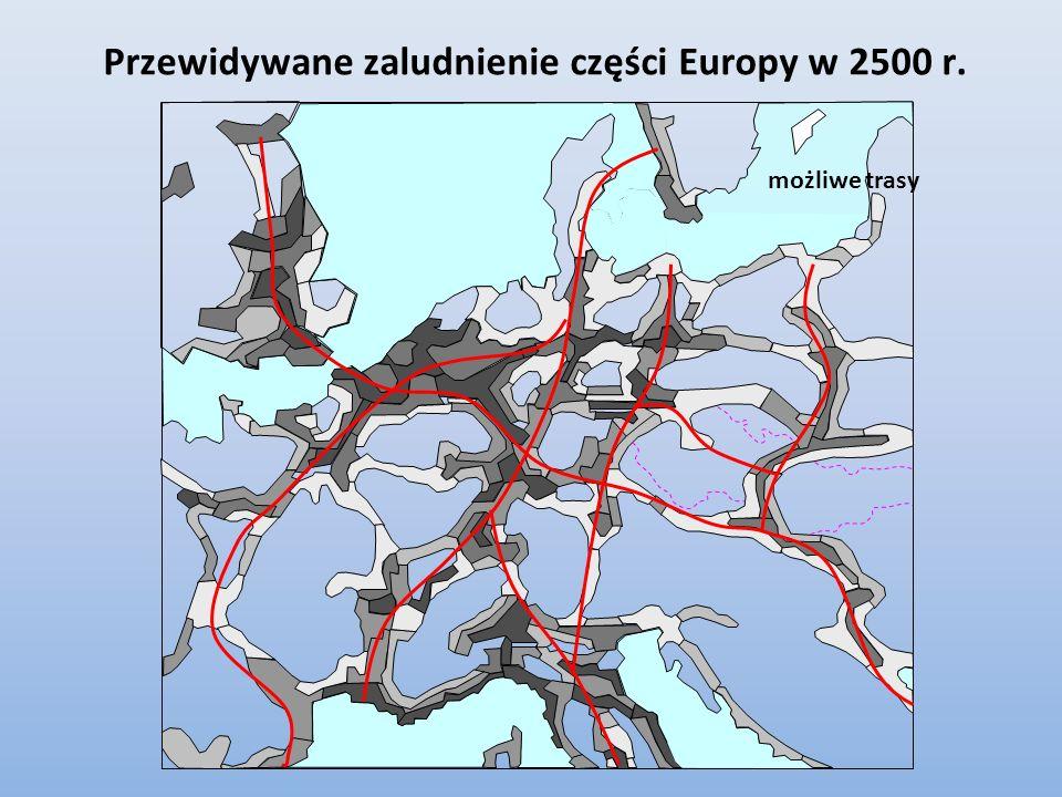Przewidywane zaludnienie części Europy w 2500 r.