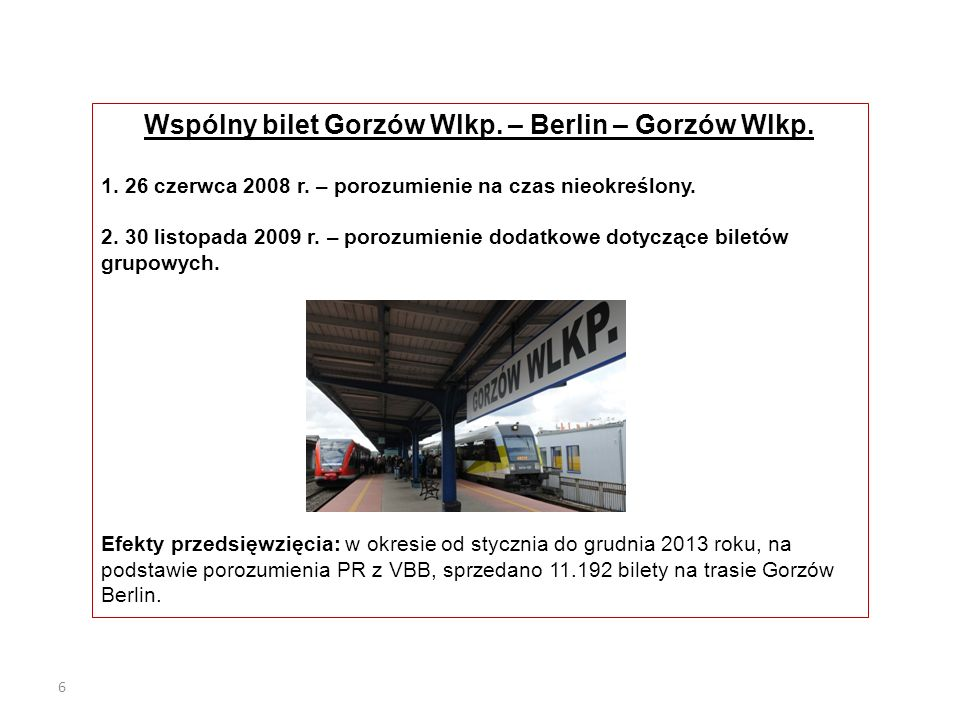 Wspólny bilet Gorzów Wlkp. – Berlin – Gorzów Wlkp.