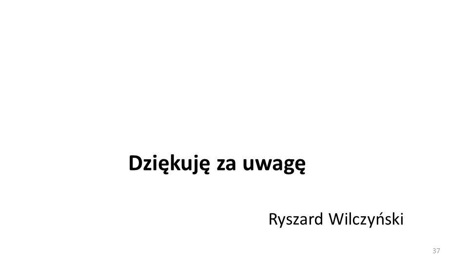 Dziękuję za uwagę Ryszard Wilczyński