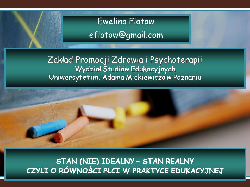 Ewelina Flatow eflatow@gmail.com