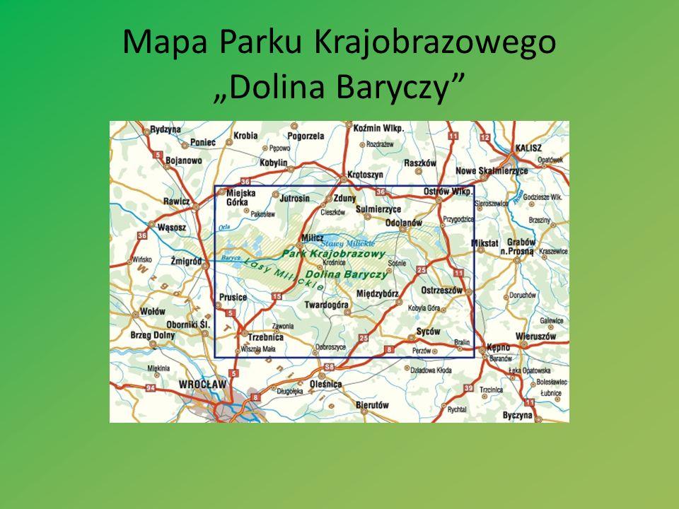 """Mapa Parku Krajobrazowego """"Dolina Baryczy"""