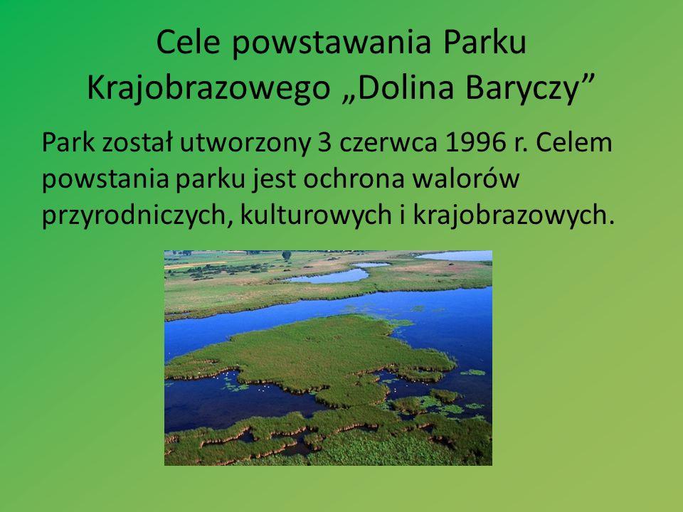 """Cele powstawania Parku Krajobrazowego """"Dolina Baryczy"""