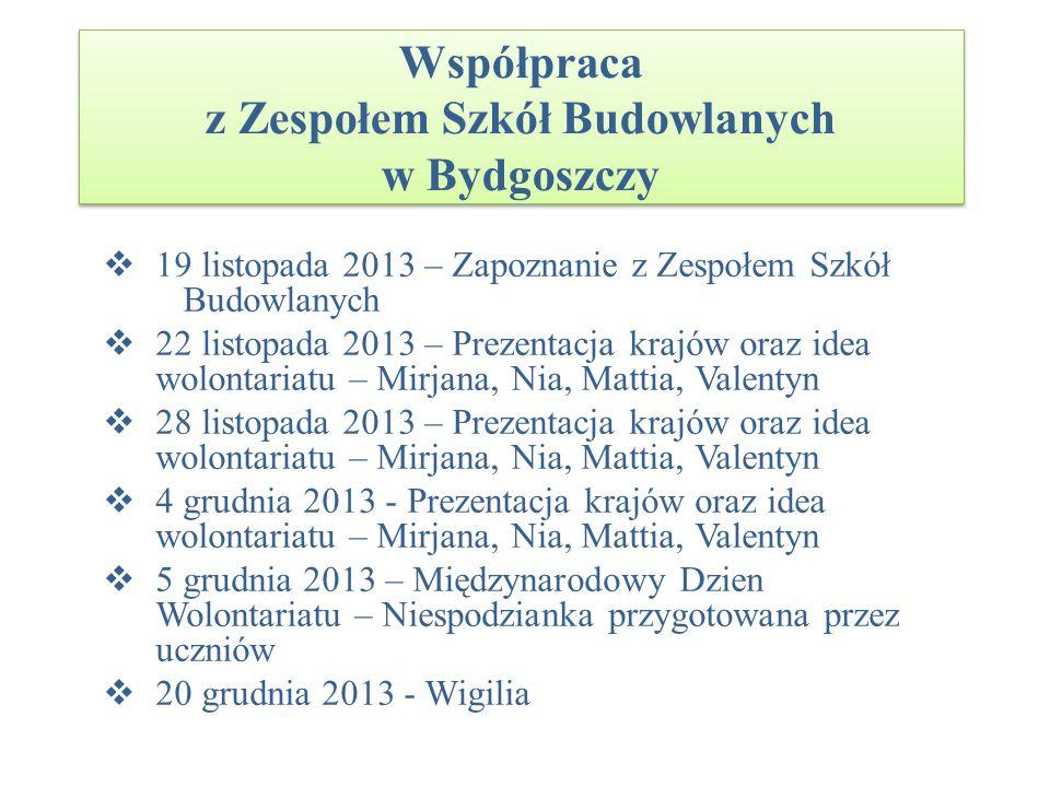 Współpraca z Zespołem Szkół Budowlanych w Bydgoszczy